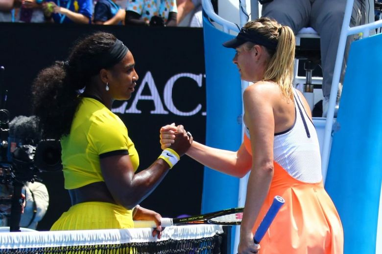 Serena Williams és Maria Sharapova (Fotó: Leonard Zhukovsky / Shutterstock.com)