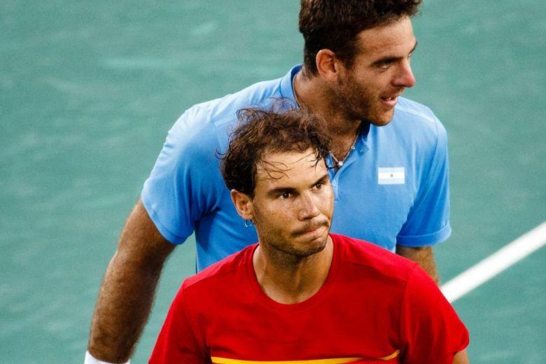 Juan Martin Del Potro és Rafael Nadal (Fotó: Petr Toman / Shutterstock.com)