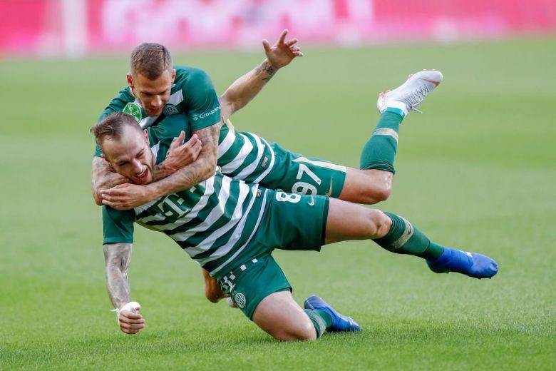 Lovrencsics Gergő és Varga Roland, a Ferencváros játékosai (Fotó: Laszlo Szirtesi / Shutterstock.com)