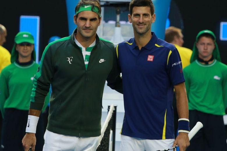 Roger Federer és Novak Djokovic (Fotó: Leonard Zhukovsky / Shutterstock.com)