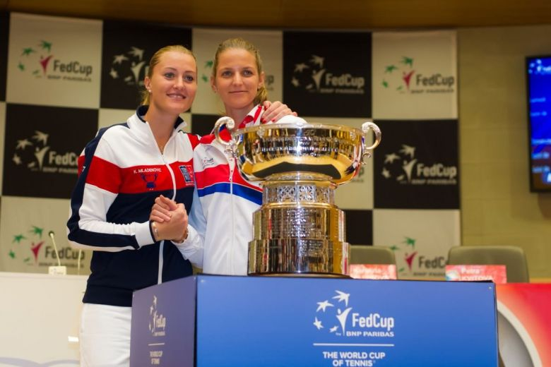Kristina Mladenovic, Karolina Pliskova és a Fed Kupa (Fotó: Jimmie48 Photography / Shutterstock.com)