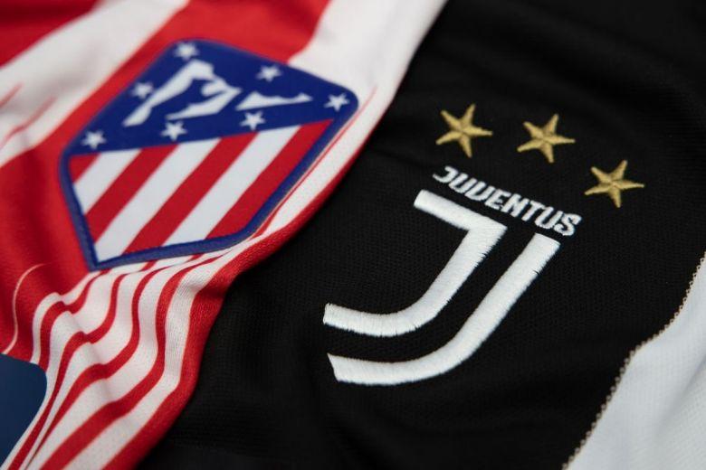 Atlético Madrid és Juventus címerei (Fotó: charnsitr / Shutterstock.com)