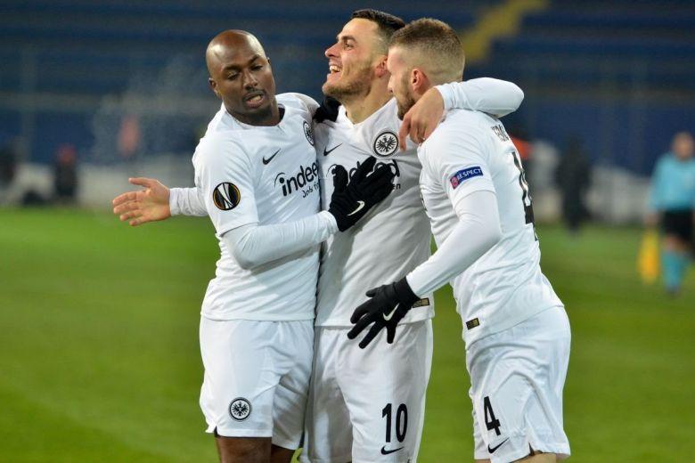 Eintracht Frankfurt játékosok öröme (Fotó: Vlad1988 / Shutterstock.com)