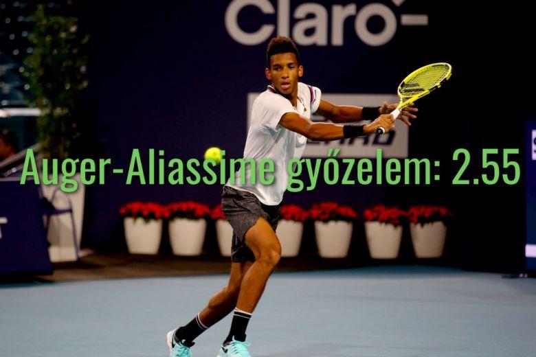 Felix Auger-Aliassime (Fotó: Leonard Zhukovsky / Shutterstock.com)