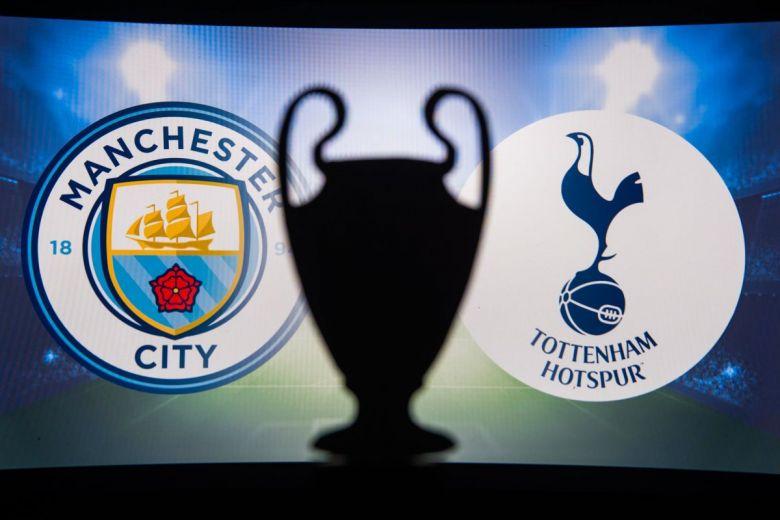Manchester City és Tottenham címerei (Fotó: kovop58 / Shutterstock.com)