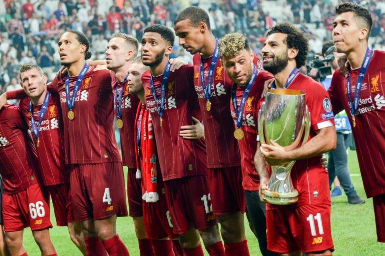Mohamed Salah és játékostársainak sikeröröme (Fotó: Vlad1988 / Shutterstock.com)