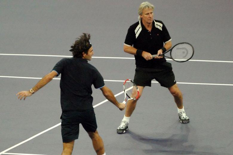 Roger Federer és Björn Borg (Fotó: manzrussali / Shutterstock.com)