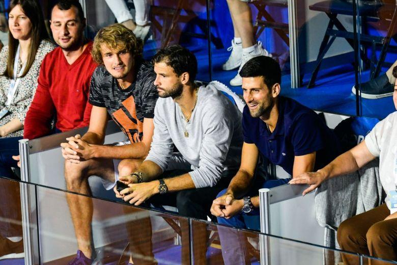 Alexander Zverev, Grigor Dimitrov és Novak Djokovic (Fotó: Fotosr52/Shutterstock)