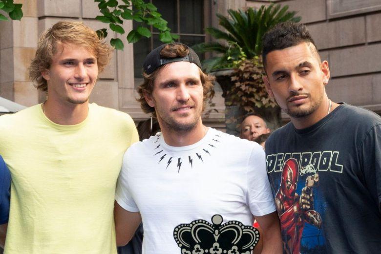 Alexander Zverev, Mischa Zverev és Nick Kyrgios (Fotó: lev radin / Shutterstock.com)